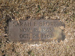 Sarah F <i>McDuffie</i> Brown