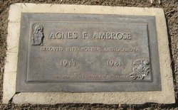 Agnes F Ambrose