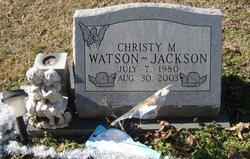 Christy M. <i>Watson</i> Jackson