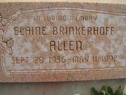 Elaine <i>Brinkerhoff</i> Allen