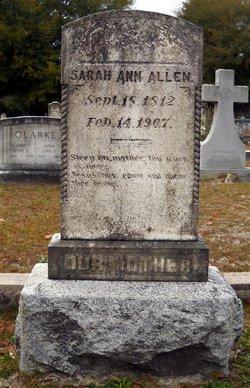 Sarah Ann <i>Whitington</i> Allen