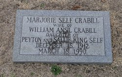 Marjorie <i>Self</i> Crabill