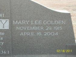 Mary Lee <i>Golden</i> Cooley