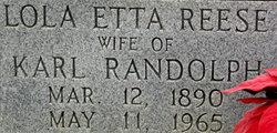 Lola Etta <i>Reese</i> Randolph