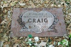 Barbara J. <i>Maynard</i> Hopkins Craig