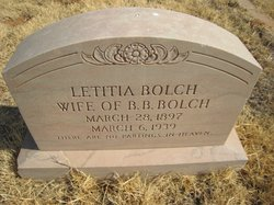 Letitia Jane <i>Vandergriff</i> Bolch