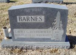 Laura G. <i>Holderfield</i> Barnes
