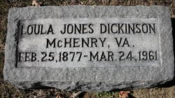 Loula <i>Jones</i> Dickinson