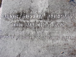 Maxie Arelia Alderman