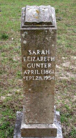 Sarah Elizabeth <i>Parker</i> Gunter