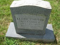 Lettie Parham Alexander