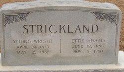 Ettie <i>Adams</i> Strickland