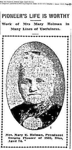 Mary Emily <i>Huntington</i> Holman