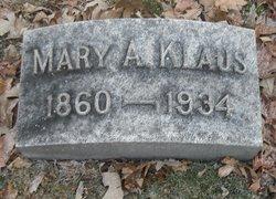 Mary A. <i>Morner</i> Klaus