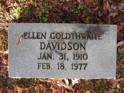 Ellen <i>Goldthwaite</i> Davidson