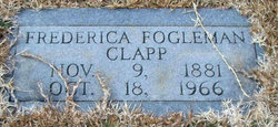 Frederica Freddie <i>Fogleman</i> Clapp