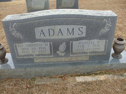 Wyanell <i>Roberts</i> Adams