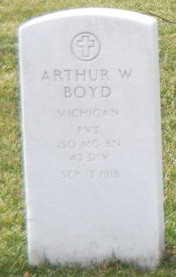 Pvt Arthur W Boyd