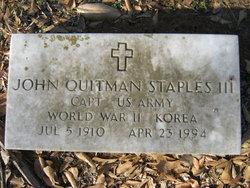 John Quitman Staples, III