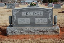 Cora Lee <i>Hall</i> Akridge