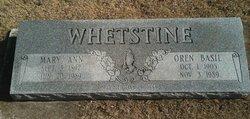 Mary Ann Whetstine