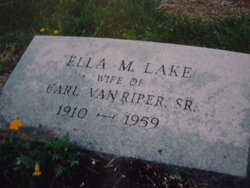 Ella May <i>Lake</i> Van Riper