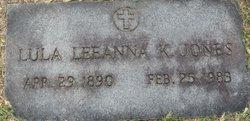 Lula Leanna <i>Kilgore</i> Jones