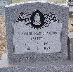 Elizabeth Joan Betty <i>Thedford</i> Charlton