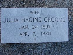 Julia <i>Hagins</i> Grooms