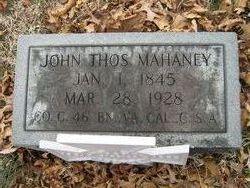 Pvt John Thomas Mahaney