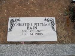 Elvira Christine <i>Pittman</i> Bain