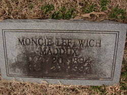Moncie Donna <i>Leftwich</i> Maddux