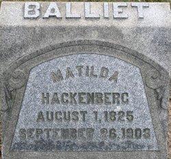 Matilda <i>Hackenberg</i> Balliet