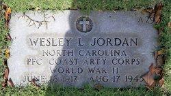 PFC Wesley L Jordan