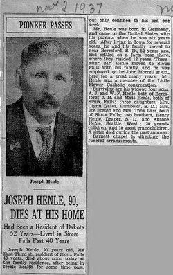 Joseph Henry Henle, Sr