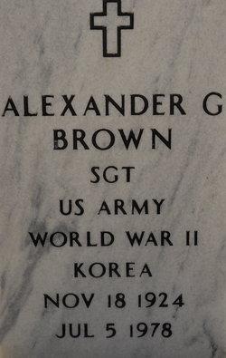 Alexander G Brown