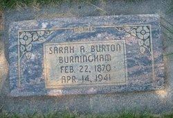 Sarah Ann <i>Burton</i> Burningham