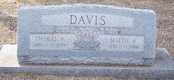 Mattie <i>Moore</i> Davis