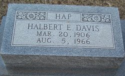 Halbert E Hap Davis