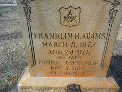 Fannie J. <i>Morrow</i> Adams