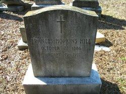 Frances <i>Hopkins</i> Hill