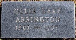 Ollie May <i>Lake</i> Arrington