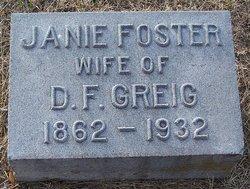 Janie Jennie <i>Foster</i> Greig