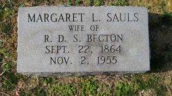 Margaret L. <i>Sauls</i> Becton