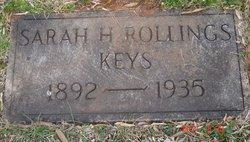 Sarah H <i>Rollings</i> Keys