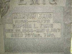 Sophia Louisa <i>Wehrly</i> Emig