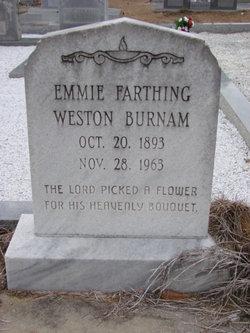 Emmie <i>Farthing</i> Burnam