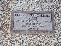 Deborah Deb <i>Gardner</i> Allen