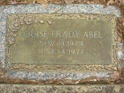 Louise <i>Frady</i> Abel