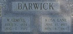 Rosa <i>Lane</i> Barwick